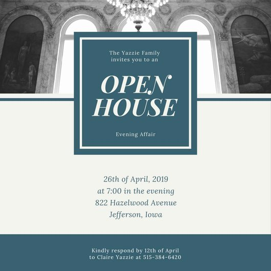 Open House Invite Template Inspirational Customize 498 Open House Invitation Templates Online Canva