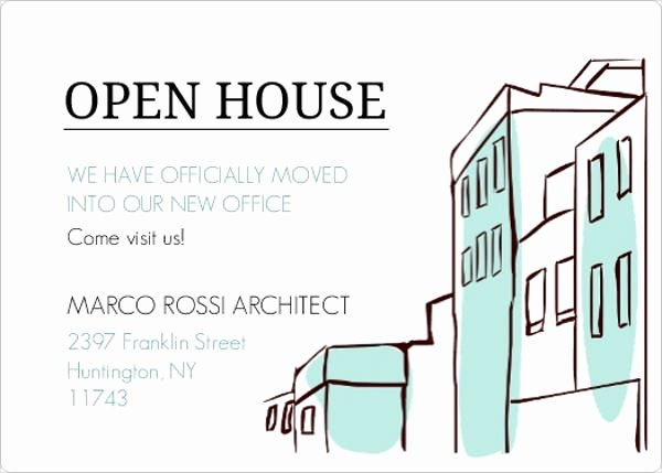 Open House Invite Template Lovely 16 Small Business Invitations Psd Eps