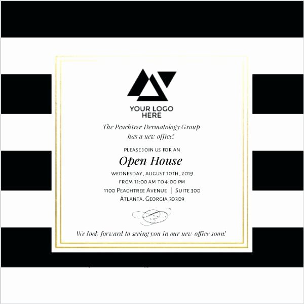Open House Invite Template New Business Open House Invitation Wording Design Templates