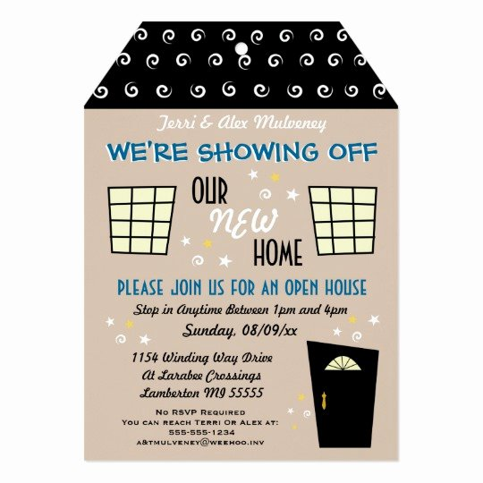 Open House Invite Template New Whimsical Tag Cut Open House Invitation