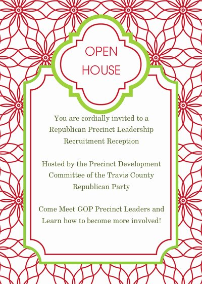Open House Invite Template Unique 10 Best Of Christmas Open House Invitation Template