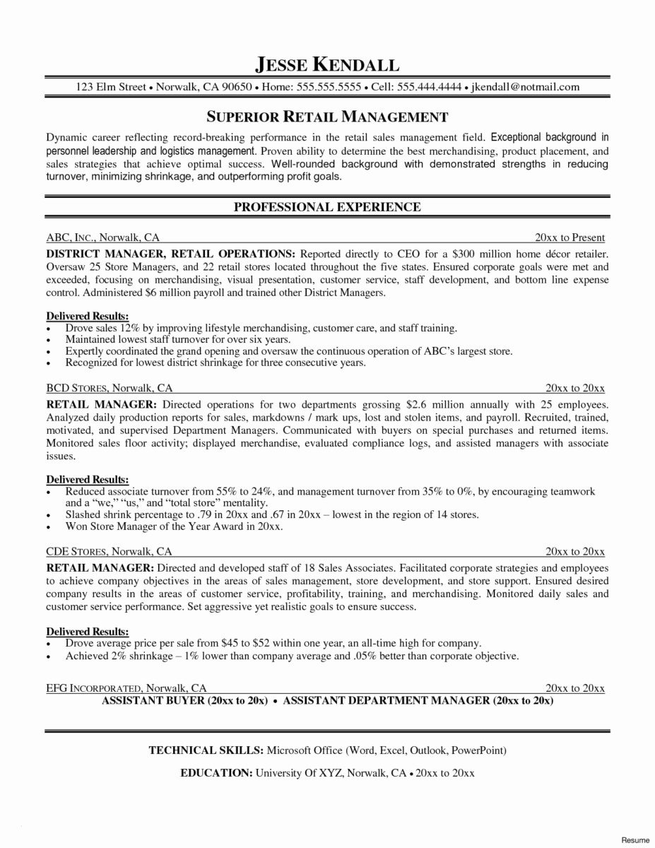 Operation Manager Resume Template Elegant Operation Manager Resume Templates Awesome Marketing