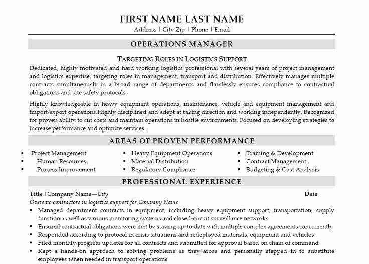 Operation Manager Resume Template Lovely Here to Download This Operations Manager Resume