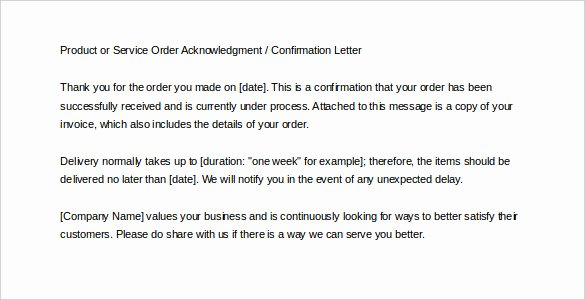 Order Confirmation Email Template New 30 order Confirmation Templates Pdf Doc
