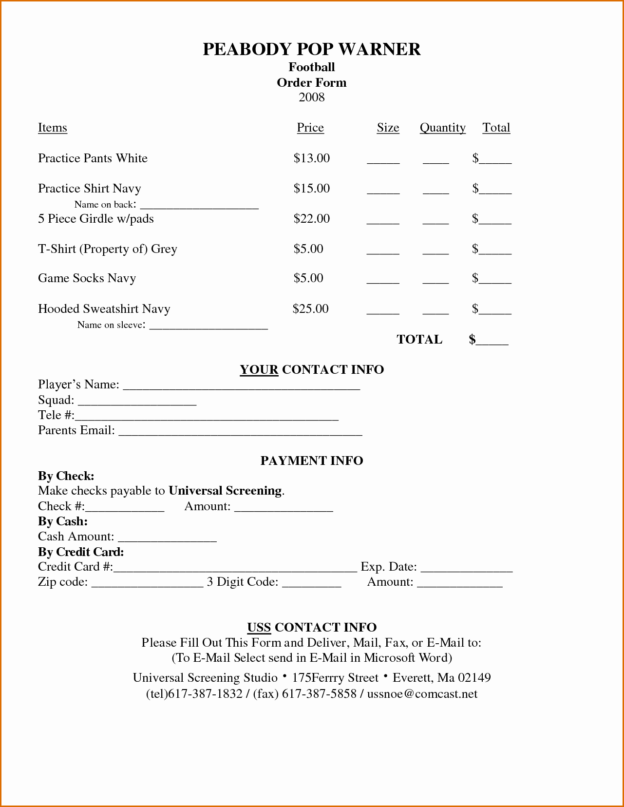 Order forms Template Word Luxury 7 order form Template Word