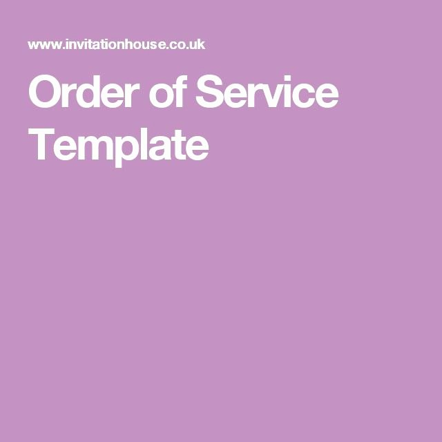 Order Of Service Template Elegant 25 Best Ideas About order Of Service Template On