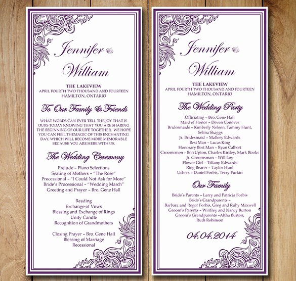 Order Of Service Template New Wedding order Template – 38 Free Word Pdf Psd Vector