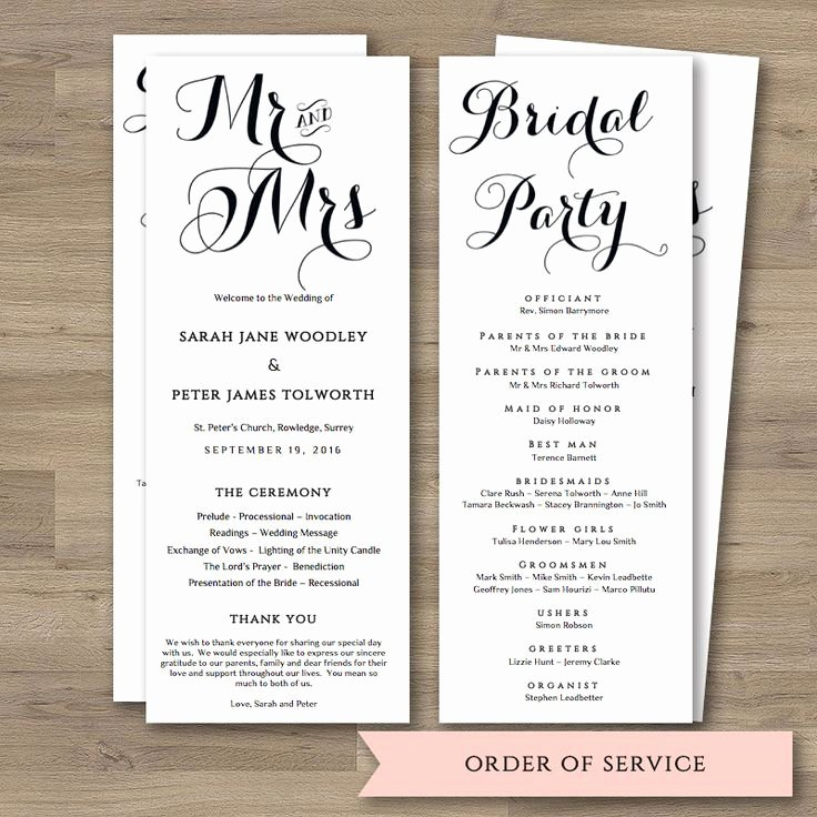 Order Of Service Template Unique 17 Best Ideas About order Service Template On Pinterest