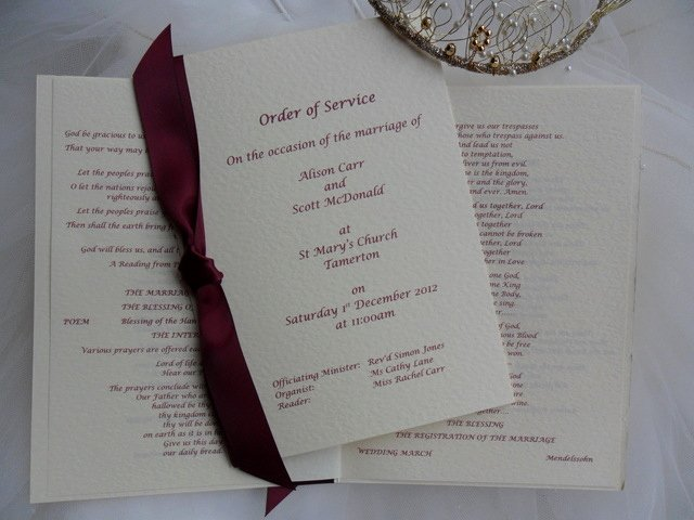 Order Of Service Template Unique order Service Template