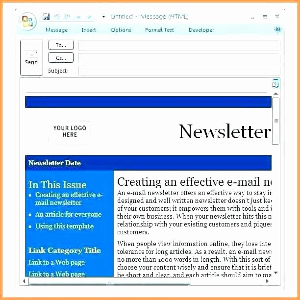 Outlook Email Newsletter Template Awesome Email Newsletter Outlook How to Paste In Outlook Send