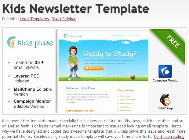 Outlook Email Newsletter Template Best Of 600 Free Email Templates