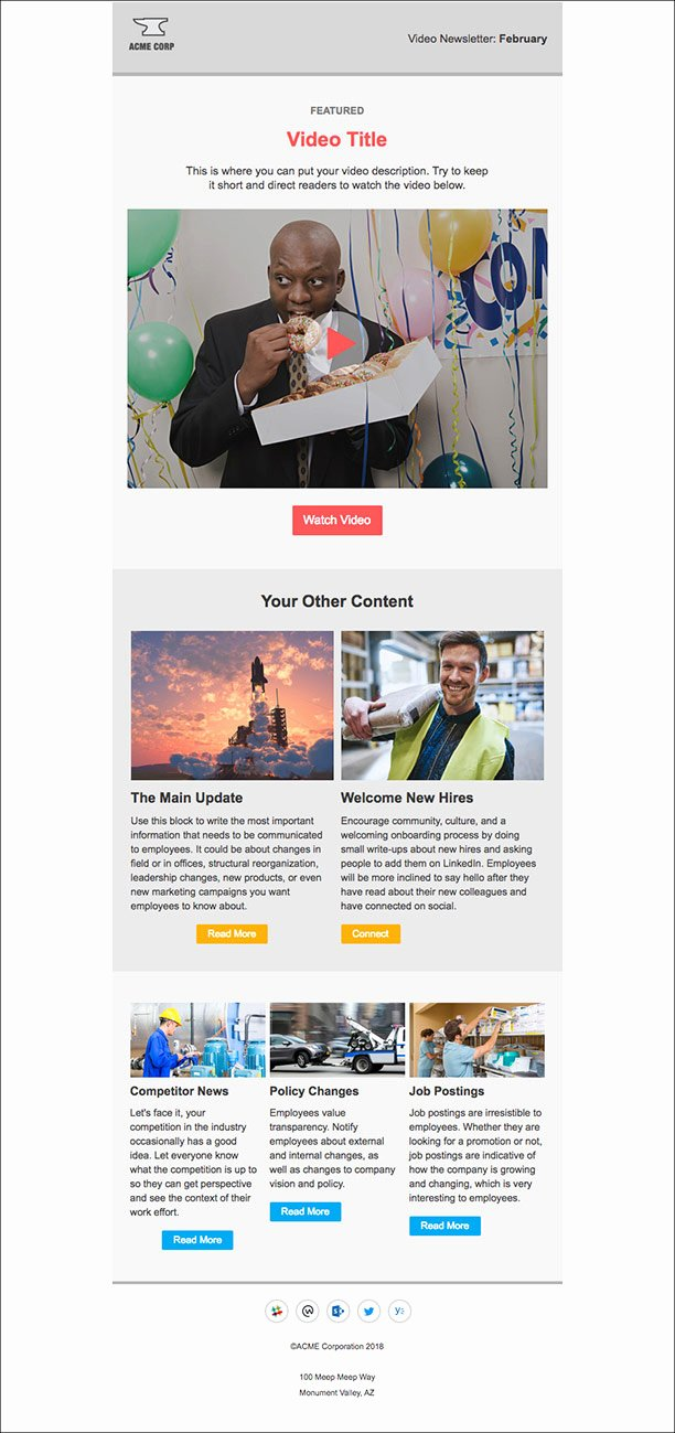 Outlook Email Newsletter Template Lovely 5 Internal Newsletter Templates for Outlook that Employees