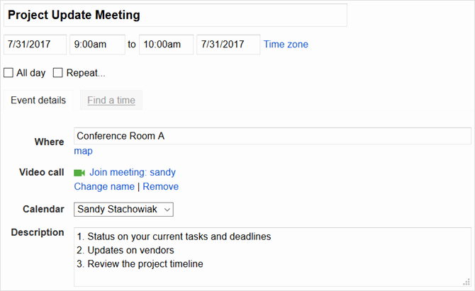 Outlook Meeting Invite Template Elegant How to Create Meeting Templates In Google and Outlook