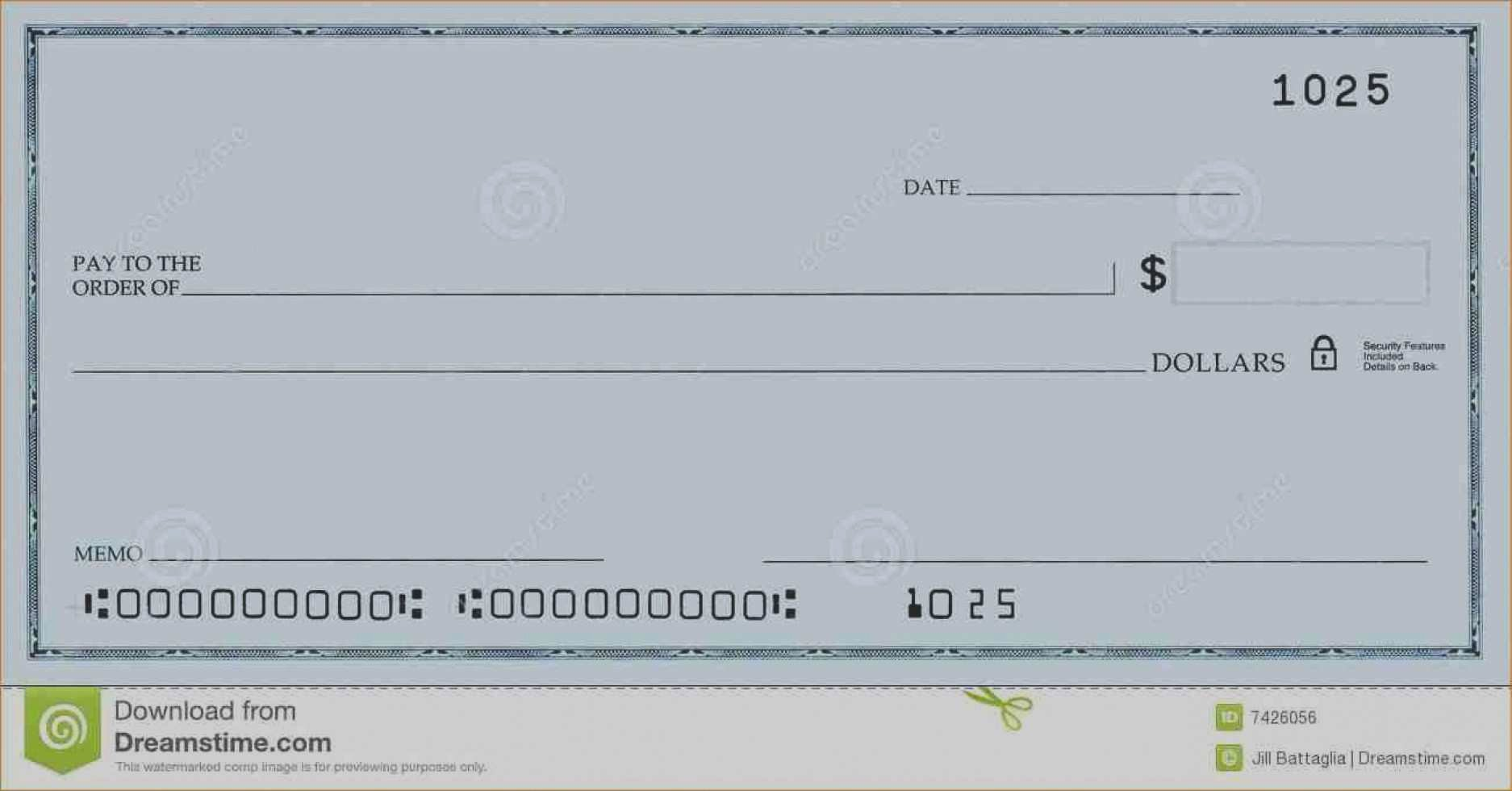 Oversized Check Template Free Awesome Luxury Oversized Blank Check Template