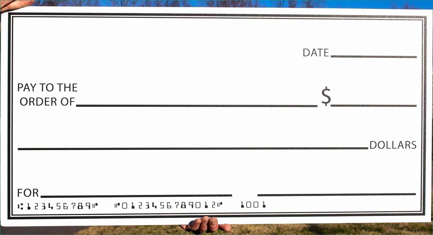 Oversized Check Template Free Beautiful Royalty Free Blank Check and Stock fortable Fake
