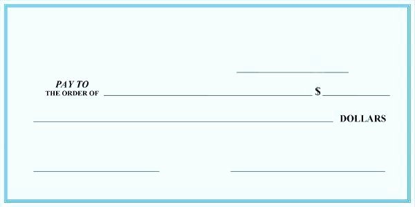 Oversized Check Template Free Lovely Fake Blank Check Info Presentation Cheque Template