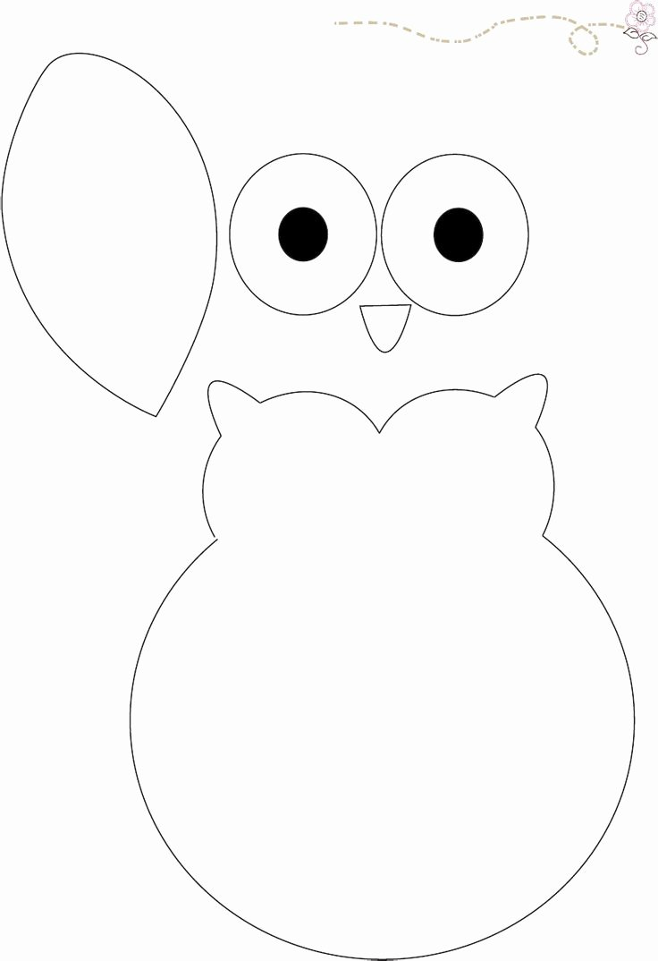 Owl Cut Out Template Awesome Owl Pattern Babyshower