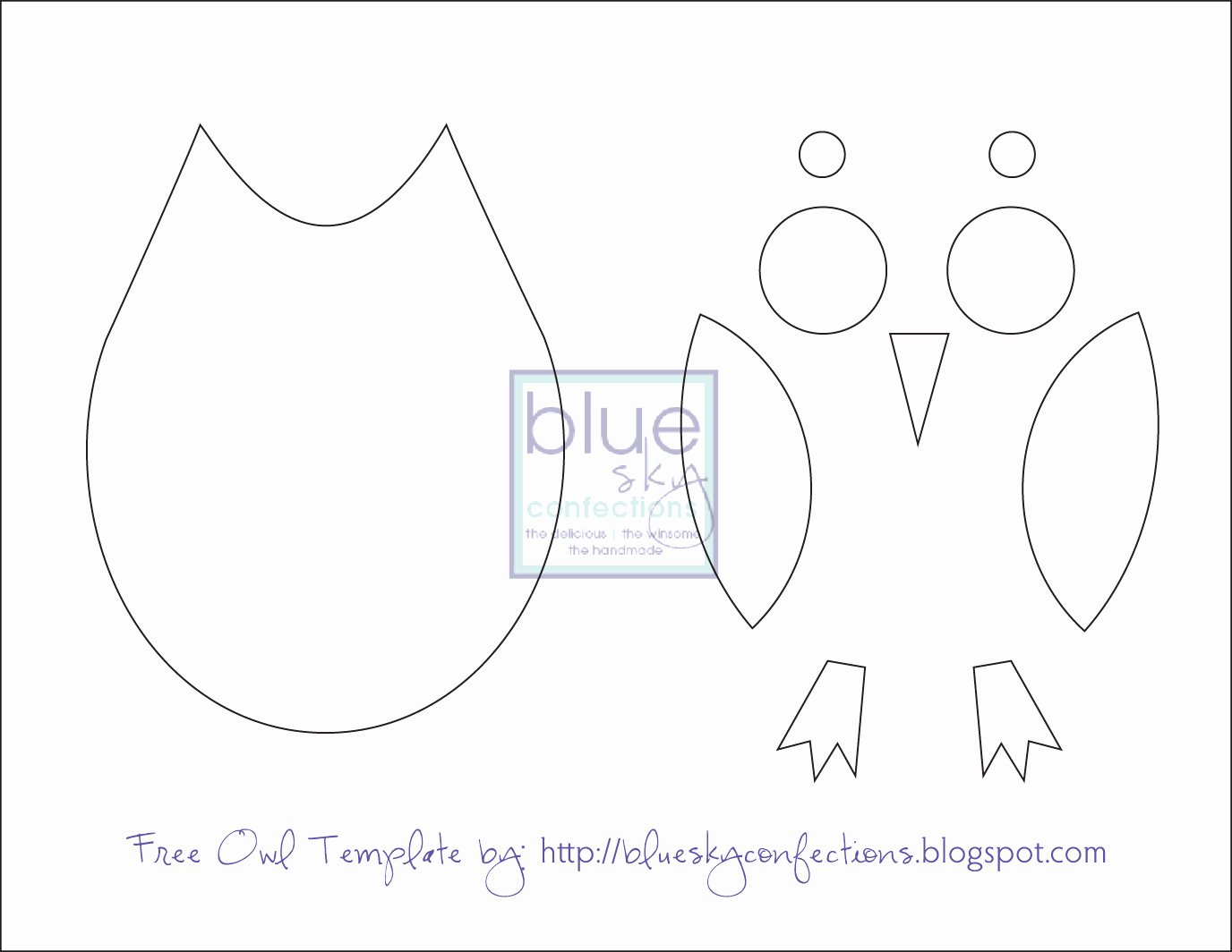 Owl Cut Out Template Beautiful Blue Sky Confections Old Frames Fabric Scraps A Few