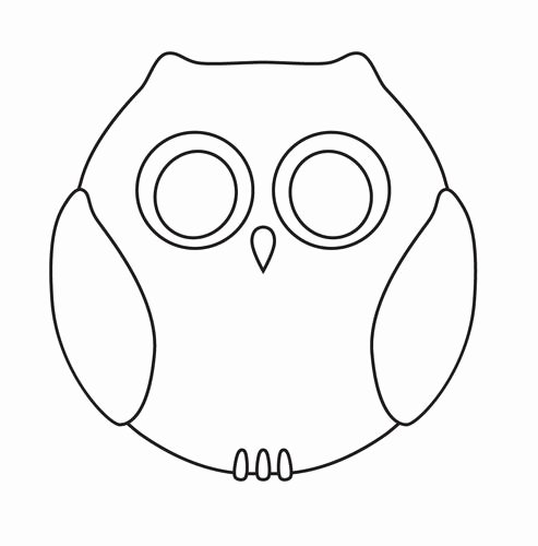 Owl Cut Out Template Beautiful Cut Out Template Cut Out Templates Pinterest