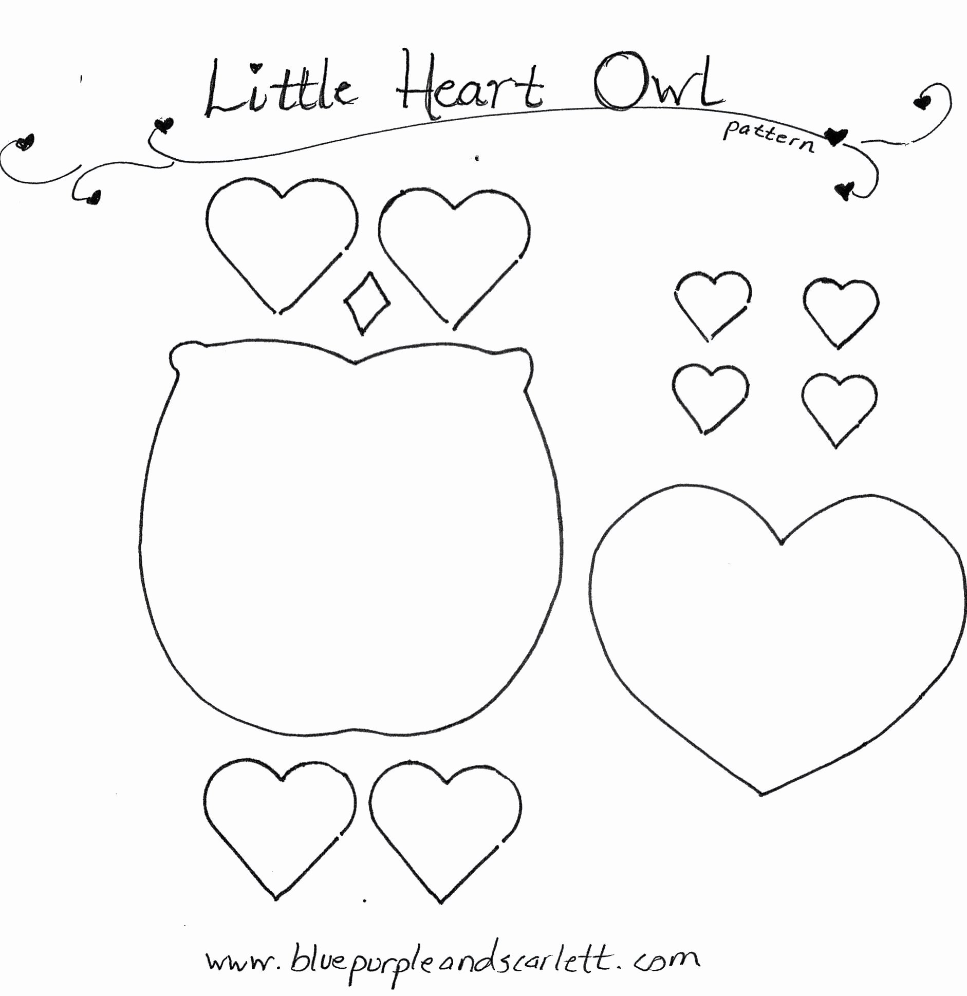 Owl Cut Out Template Elegant Best S Of Owl Template Printable Heart Pattern