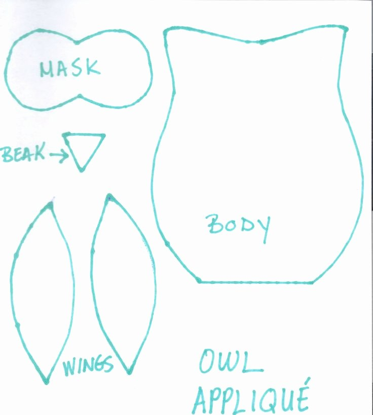Owl Cut Out Template Elegant Owl Applique Cut Out Baby Stuff
