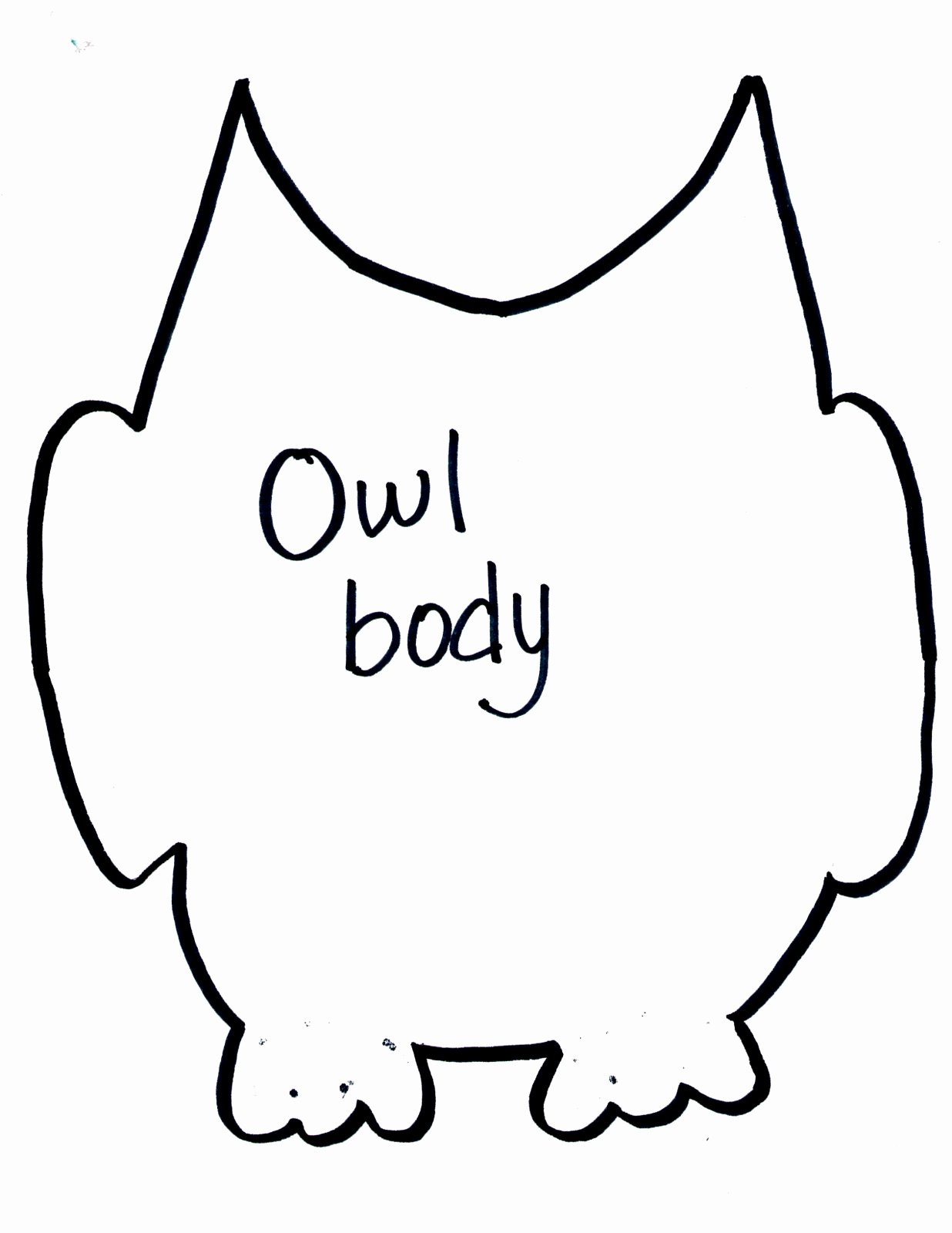 Owl Cut Out Template Inspirational Ly the Young Crafty Days Owl Frame