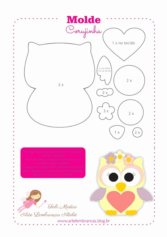 Owl Cut Out Template Inspirational Patrones and Felt Owl Pattern On Pinterest