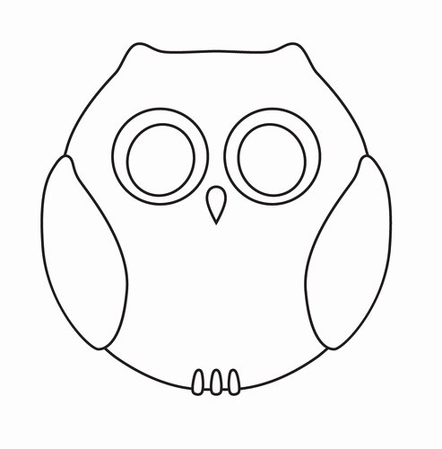 Owl Cut Out Template Lovely Cute Hoots Jason Wu Designs