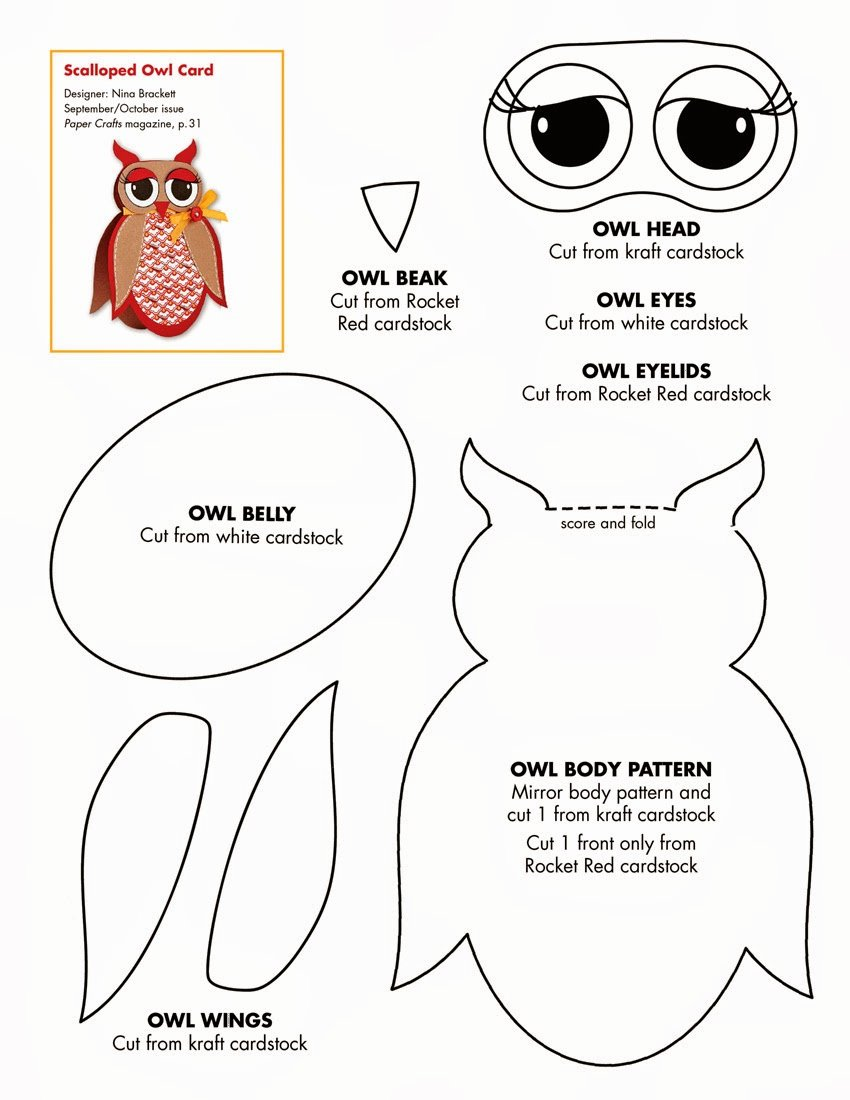 Owl Cut Out Template Luxury Early Play Templates Owl Templates Cut and Create
