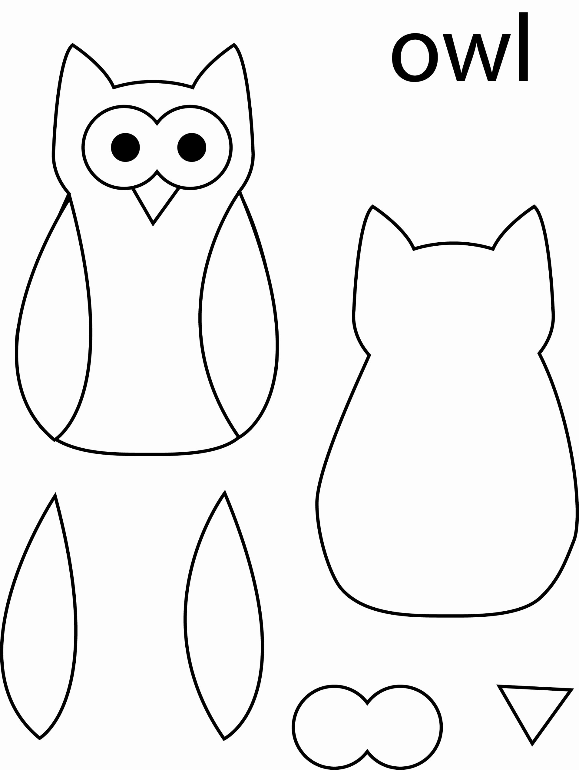 Owl Cut Out Template New Owl Template