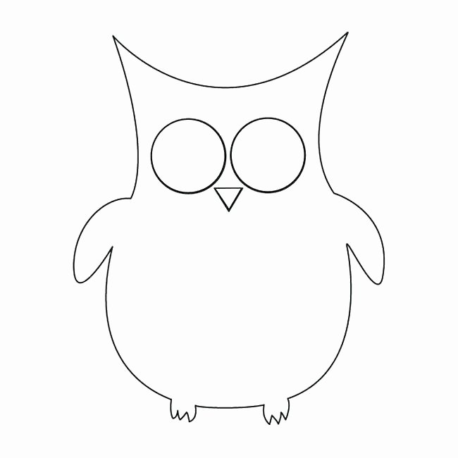 Owl Cut Out Template Unique Owl Shape Template Blank Animal Templates Simple