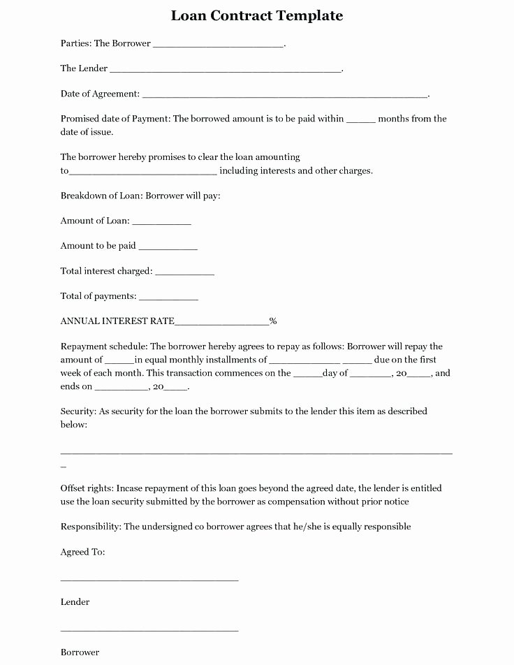 Owner Finance Contract Template Luxury Auto Finance Agreement Template Loan Contract form