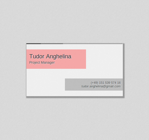 Pages Business Card Template Fresh Single Page HTML5 Css3 Business Card Template 2 0