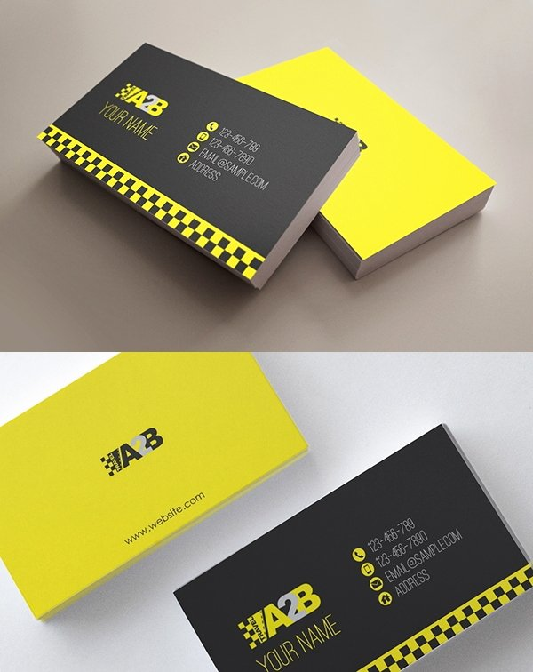 Pages Business Card Template New 13 Taxi Business Card Templates Ai Pages Word