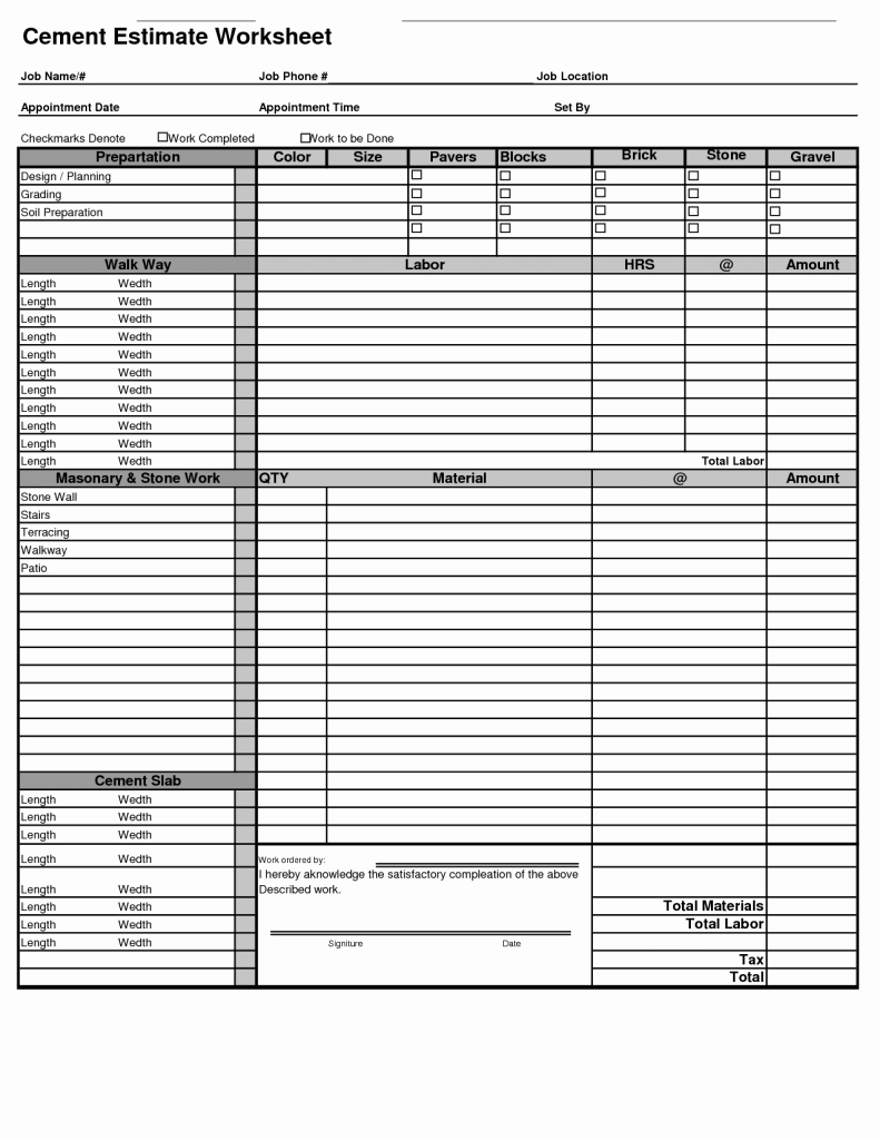 Painting Estimate Template Excel Fresh Painting Estimate Template Free Sample Worksheets