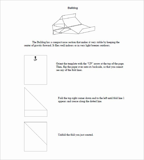 Paper Airplane Template Pdf Awesome 15 Paper Airplane Templates Psd Pdf