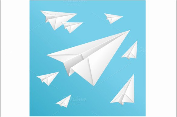 Paper Airplane Template Pdf Luxury 15 Paper Airplane Templates Psd Pdf