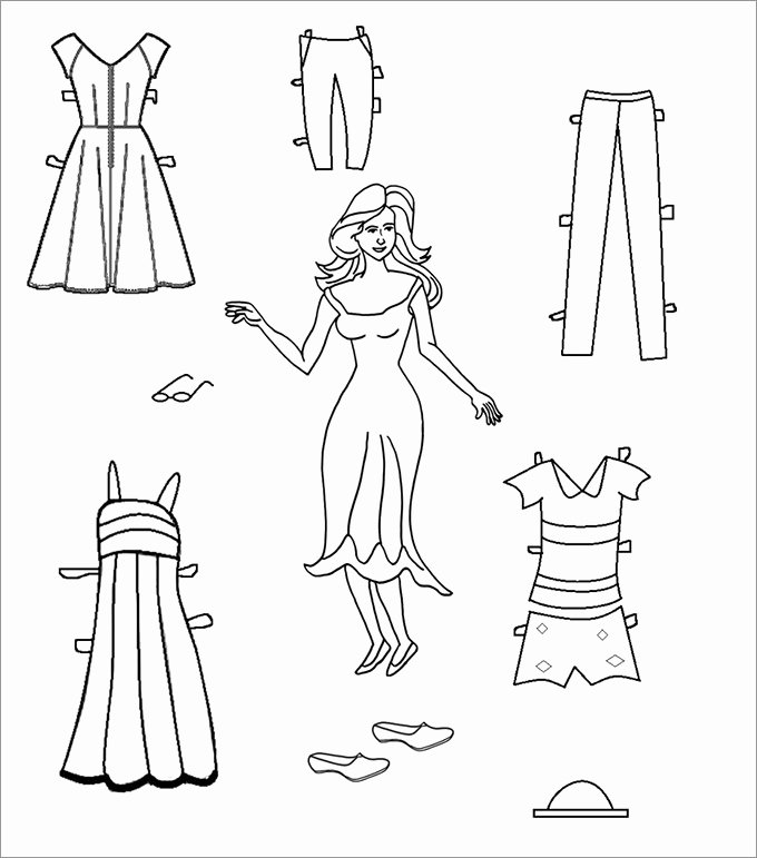 Paper Doll Clothes Template Beautiful Paper Dolls