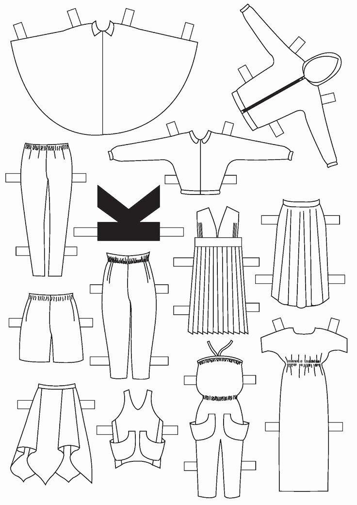 Paper Doll Clothes Template Elegant 76 Best Paper Dolls for My Girls Images On Pinterest