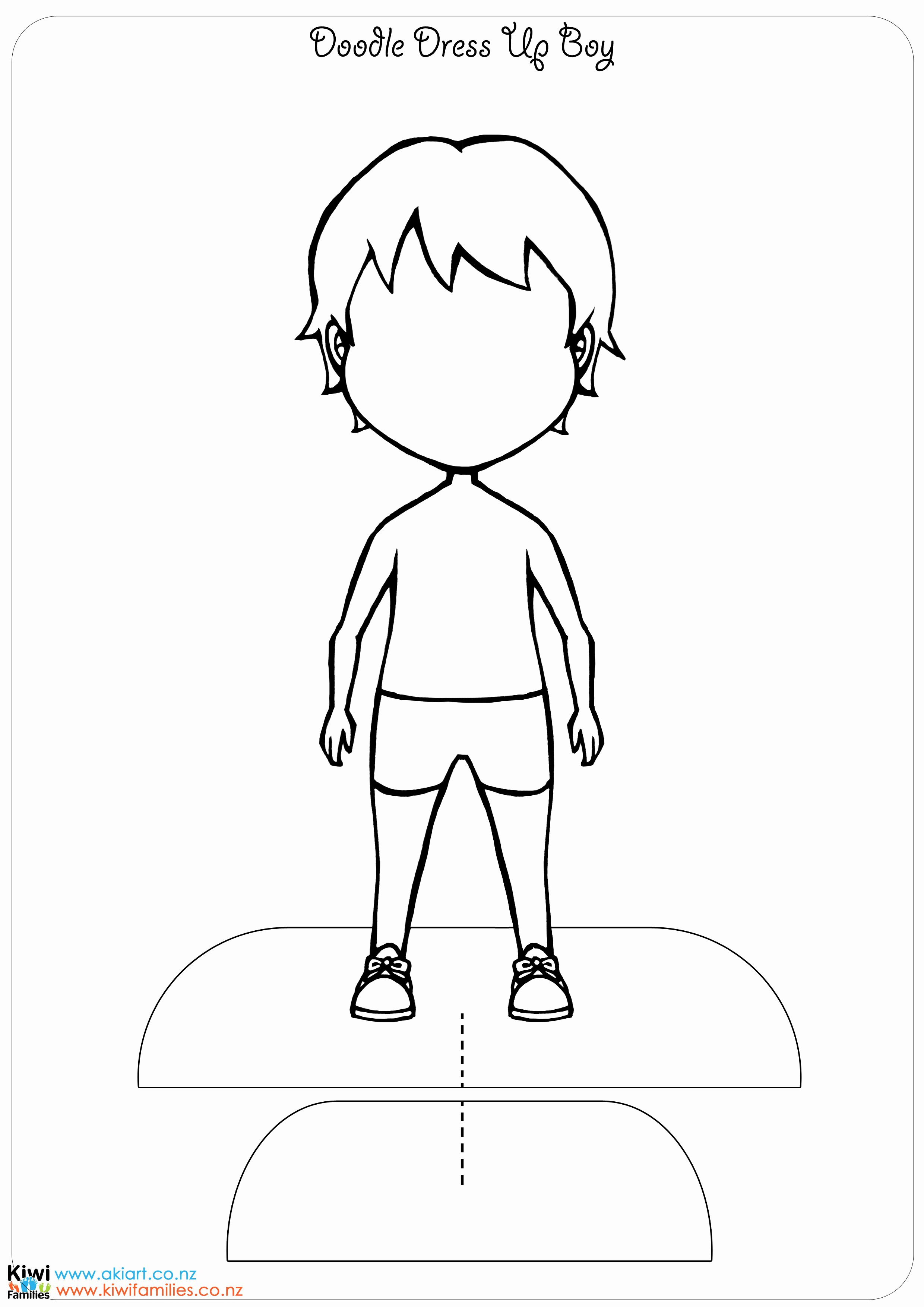 Paper Doll Clothes Template Elegant Make Your Own Paper Dolls Kiwi Families