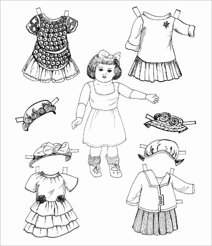 Paper Doll Clothes Template Elegant Paper Dolls