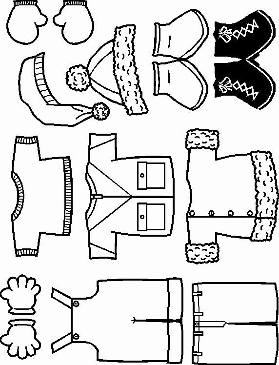 Paper Doll Clothes Template Lovely Winter Playtime Paper Dolls Winter theme