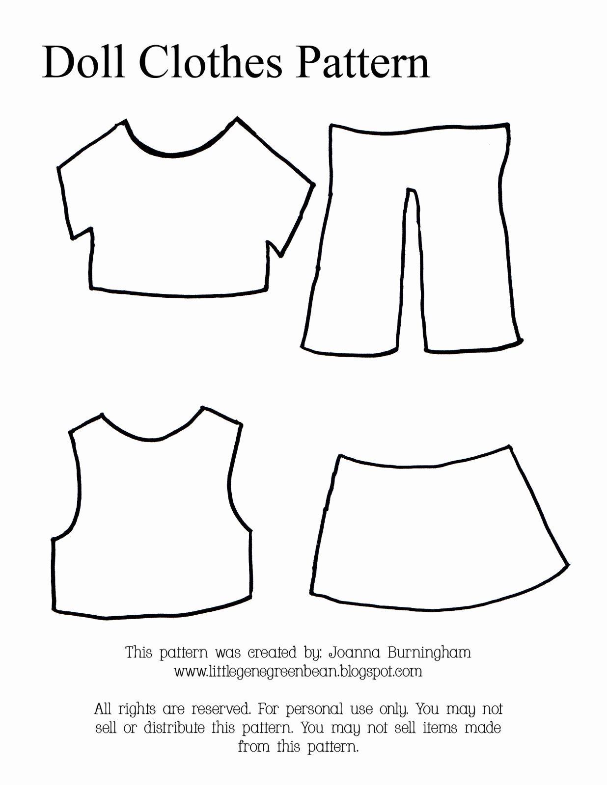 Paper Doll Clothes Template New Little Gene Green Bean Four Quick Easy and Cheap
