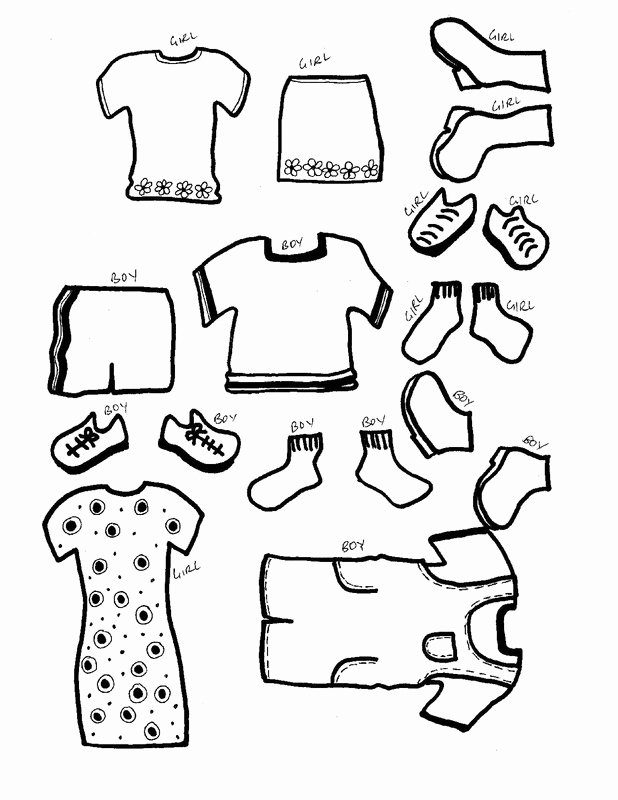 Paper Doll Clothing Template Awesome Paper Dolls with Clothes