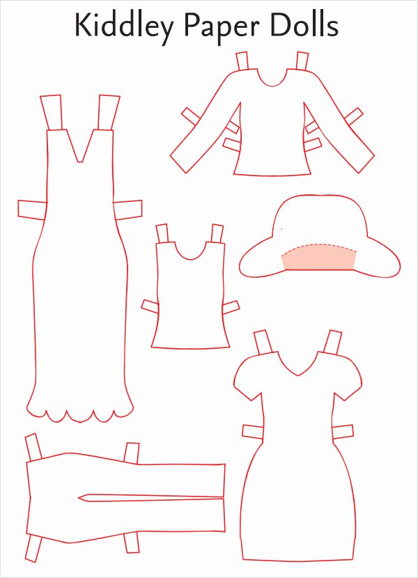 Paper Doll Clothing Template Best Of 8 Paper Doll Samples