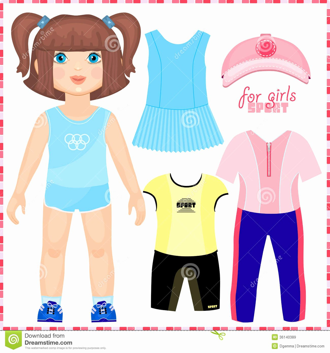 Paper Doll Clothing Template Best Of Best S Of Paper Doll Clothes for Girls Paper Dolls