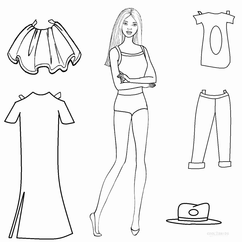 Paper Doll Clothing Template Elegant Free Printable Paper Doll Templates