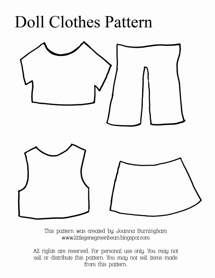 Paper Doll Clothing Template Elegant Little Gene Green Bean Four Quick Easy and Cheap