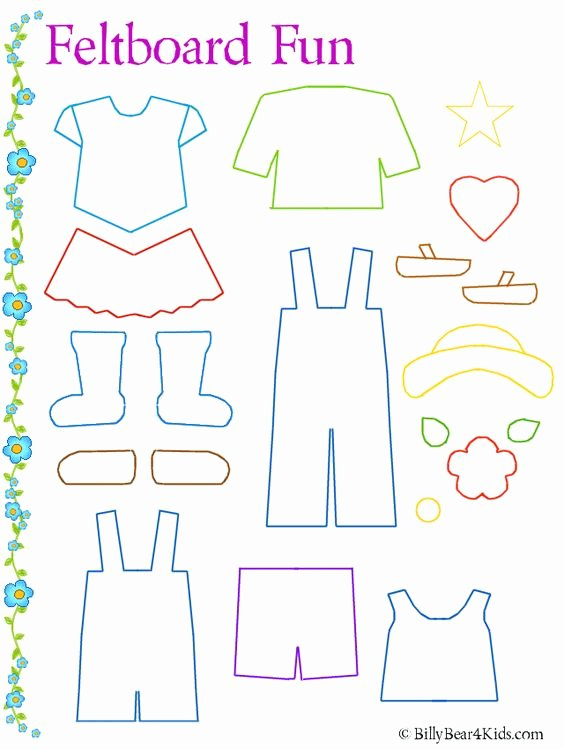 Paper Doll Clothing Template Fresh Felt Board Clothes Template Many More too Like Lady Bug