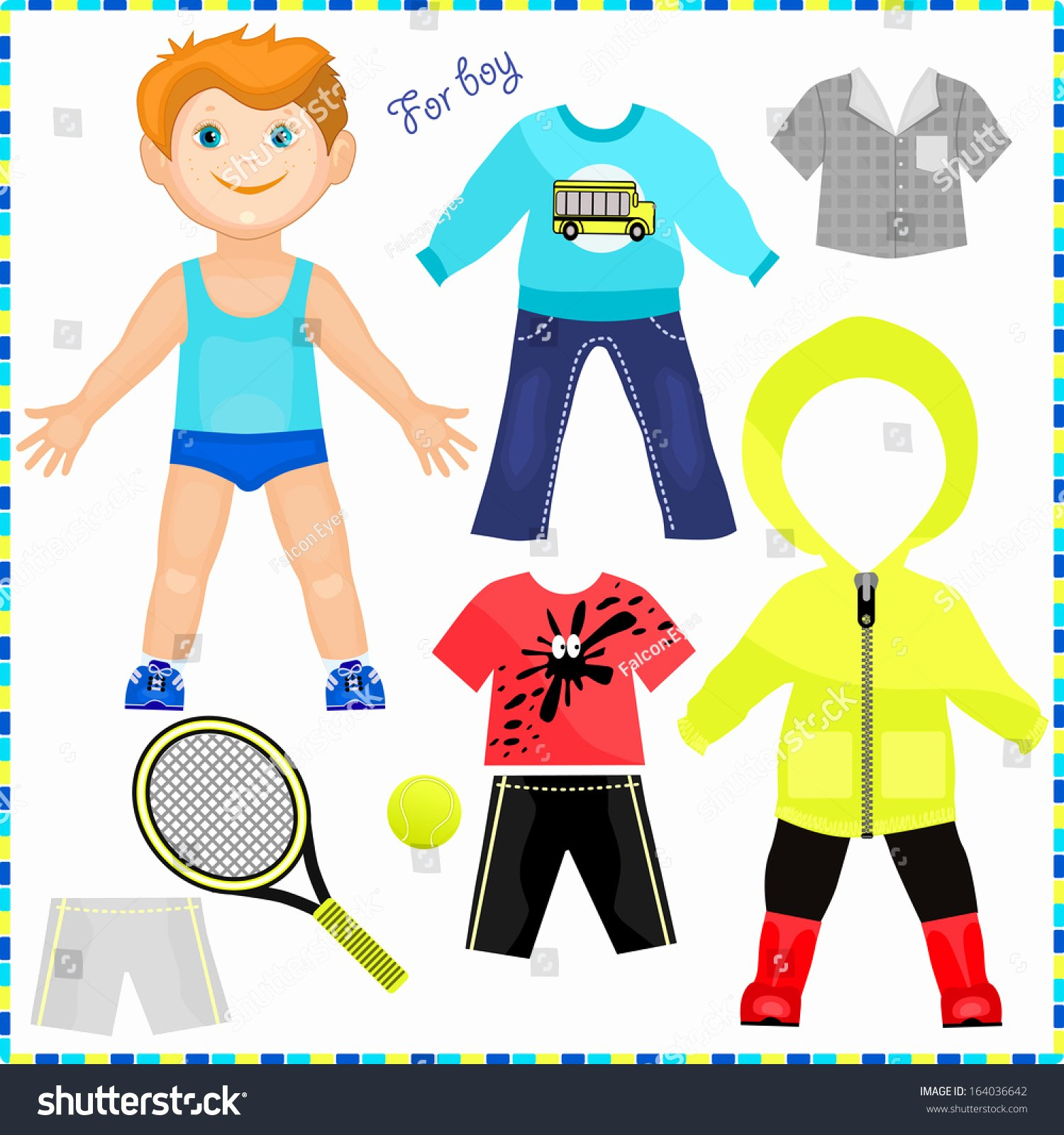 Paper Doll Clothing Template Fresh Paper Doll Set Clothes Cute Trendy Stock Vector
